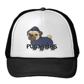 ¡Pugjamas - el barro amasado en pawjamas! Gorra