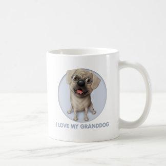 Pugle 2 - Ame mi Granddog Taza Básica Blanca