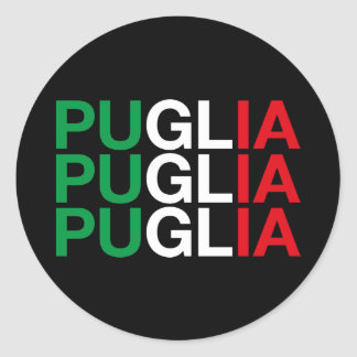 PUGLIA CLASSIC ROUND STICKER