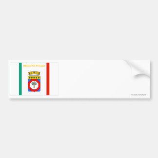 Puglia flag bumper sticker