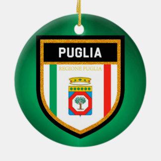Puglia Flag Ceramic Ornament