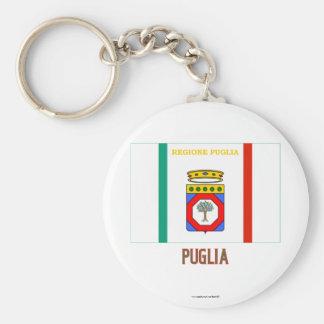 Puglia flag with name keychain