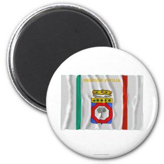 Puglia waving flag magnet