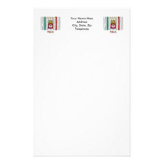 Puglia waving flag with name stationery
