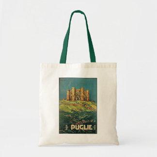 """Puglie ( Puglia ) Vintage Italian Travel Poster Tote Bag"