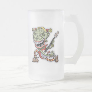 Pugly Ewster Frosted Glass Beer Mug