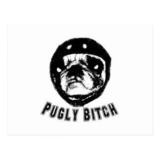 pugly postcard