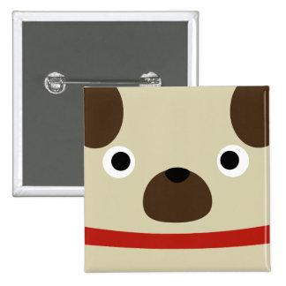 Pugly Pug 2 Inch Square Button