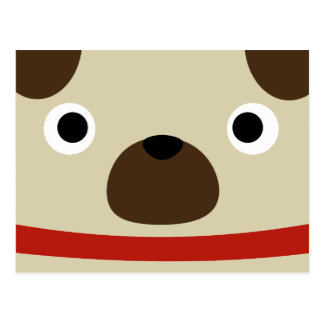 Pugly Pug Postcard