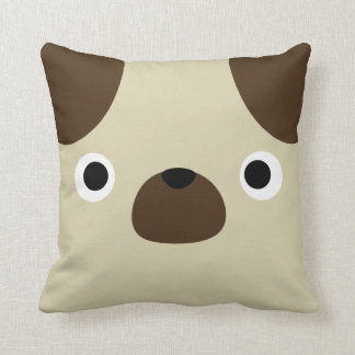 Pugly Pug Throw Pillow
