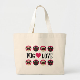 Pugnacious Gifts: Pug Love with Black & Fawn Pugs Canvas Bags