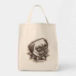 Pugnacious Pug by Mudge Studios Bags