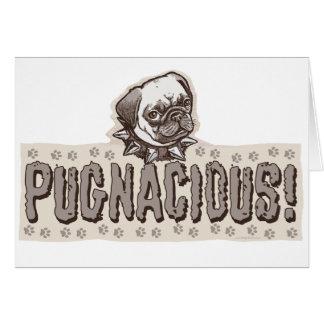 Pugnacious Pug by Mudge Studios Greeting Card