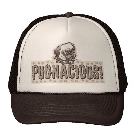 Pugnacious Pug by Mudge Studios Trucker Hat