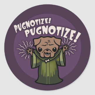 Pugnotize! PUGNOTIZE! Classic Round Sticker