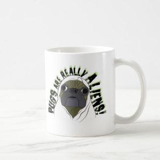 pugs aliens coffee mug