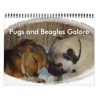 Pugs and Beagles Galore Calendar