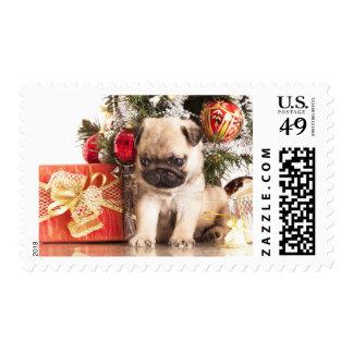 Pugs and Christmas gifts Postage