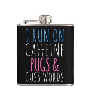 Pugs and Cuss Words Flask