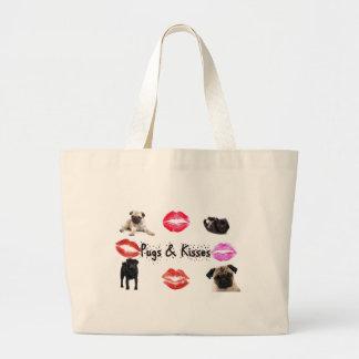 Pugs and Kisses Jumbo Tote Bag