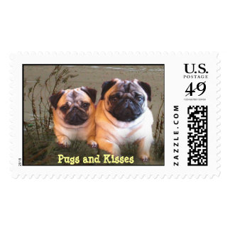 Pugs and Kisses Postage