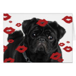 Pugs and Kisses Stationery Note Card