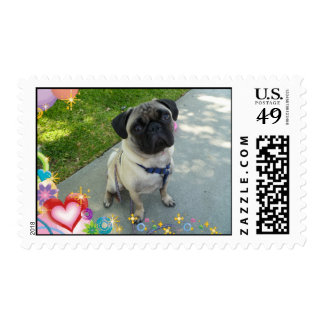 Pugs and Love Postage