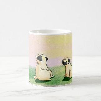 Pugs at Sunset Coffee Mug