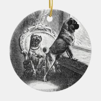 Pugs Ceramic Ornament