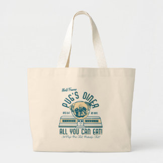 Pug's Diner Retro Vintage Style Beach Bags