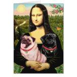 Pugs (Fawn + Blk) - Mona Lisa Cards