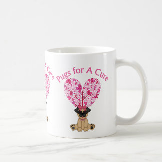 Pugs for A Cure Breast Cancer Awareness Tees, Gift Coffee Mug