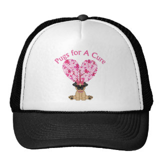Pugs for A Cure Breast Cancer Awareness Tees, Gift Trucker Hat