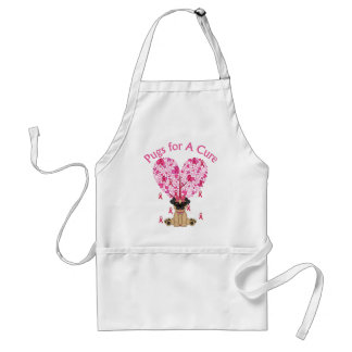 Pugs for A Cure Breast Cancer Pugs 2 Adult Apron