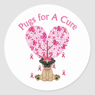 Pugs for A Cure Breast Cancer Pugs 2 Sticker