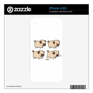 PUGS For Life! iPhone 4 Decal