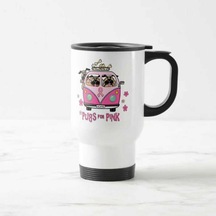 Pugs for Pink Travel Mug