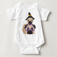 Pugs in Witch Hat Shirts