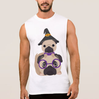 Pugs in Witch Hat Sleeveless Tees
