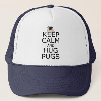 Pugs: Keep Calm Pug Dog Trucker Hat