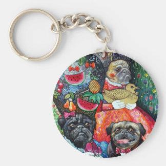 pugs keychain