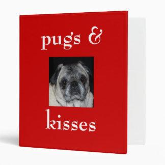 Pugs & Kisses Avery Binder