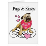 Pugs & Kisses Greeting Card