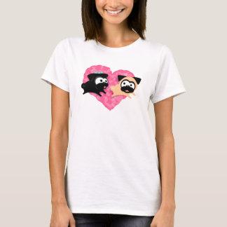 Pugs & Kisses Heart Tee