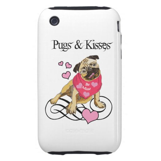 Pugs & Kisses iPhone 3 Tough Covers