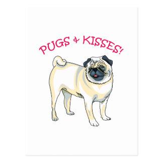 PUGS & KISSES! POSTCARD