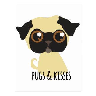 Pugs & Kisses Postcard