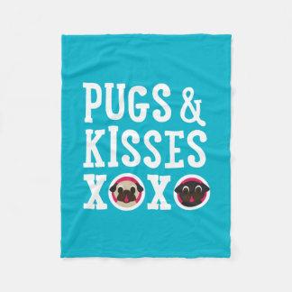 Pugs & Kisses XOXO Fleece Blanket