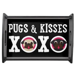 Pugs & Kisses XOXO Pug Serving Tray