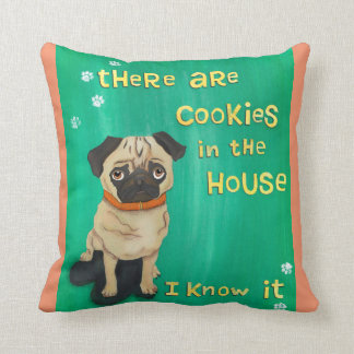 Pugs Know - Funny Gift for Dog Lovers Throw Pillow